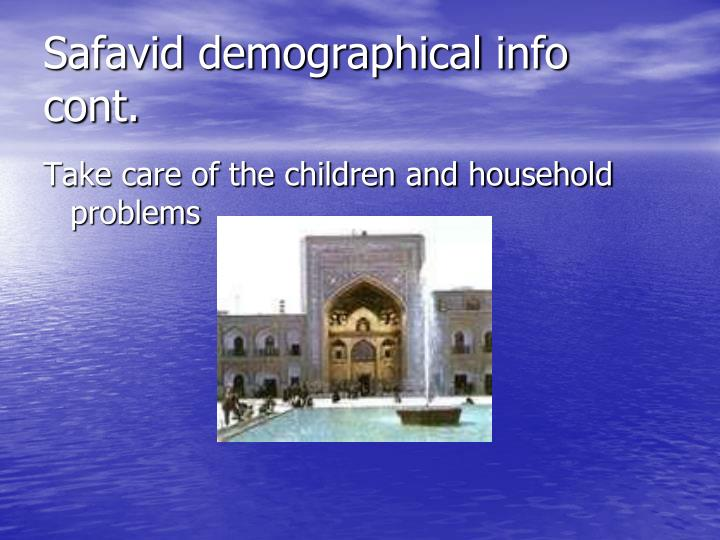 Safavid demographical info cont.
