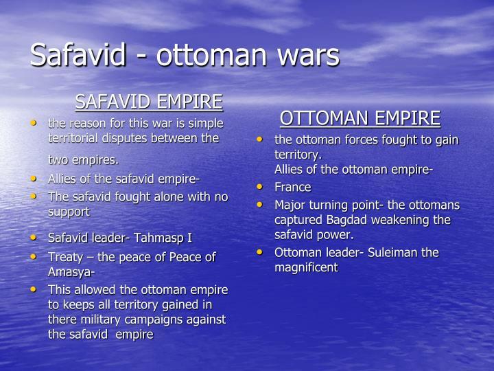Safavid - ottoman wars