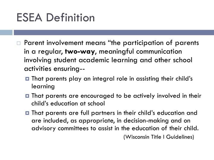 ESEA Definition