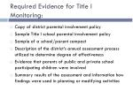 required evidence for title i monitoring