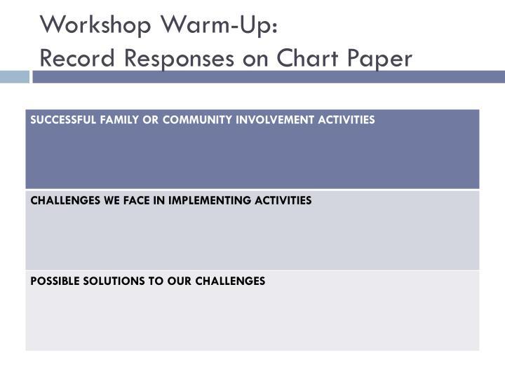 Workshop Warm-Up: