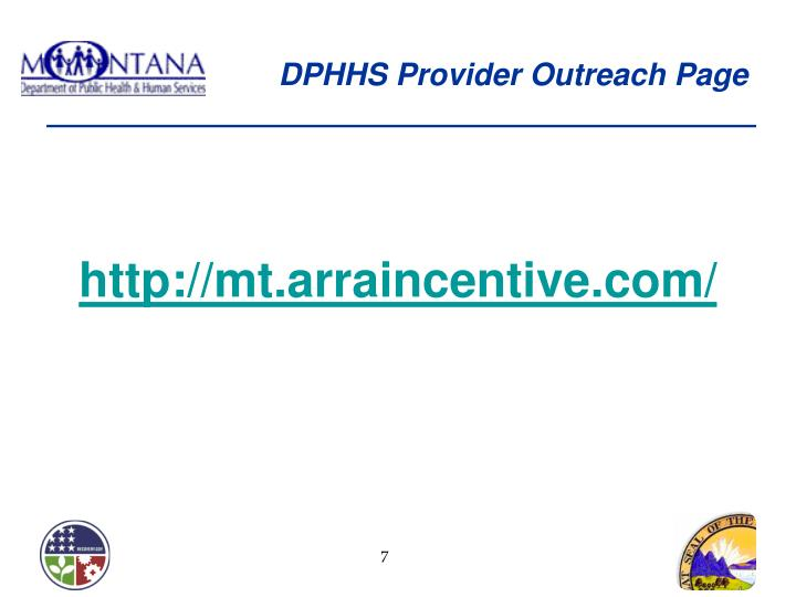 DPHHS Provider Outreach Page