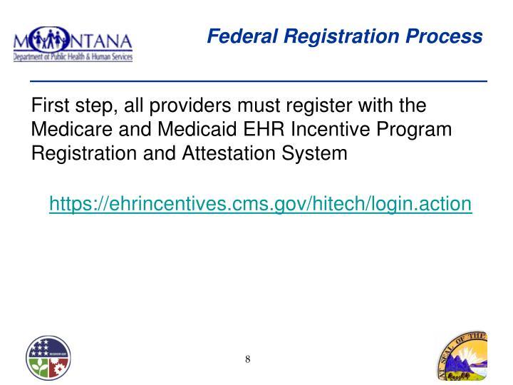 Federal Registration Process