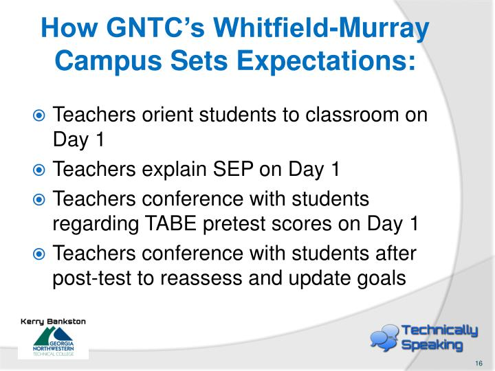How GNTC's Whitfield-Murray Campus Sets Expectations: