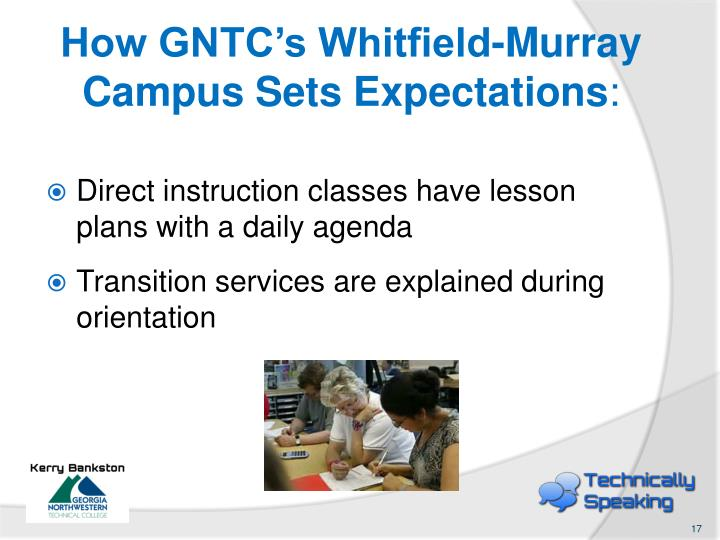 How GNTC's Whitfield-Murray Campus Sets Expectations
