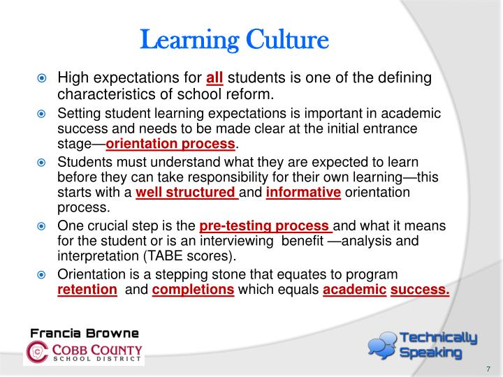 Learning Culture
