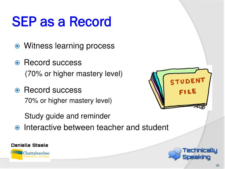 SEP as a Record