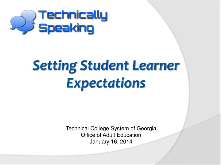 technical college system of georgia office of adult education january 16 2014