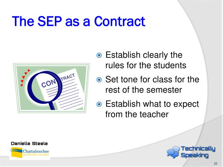 The SEP as a Contract