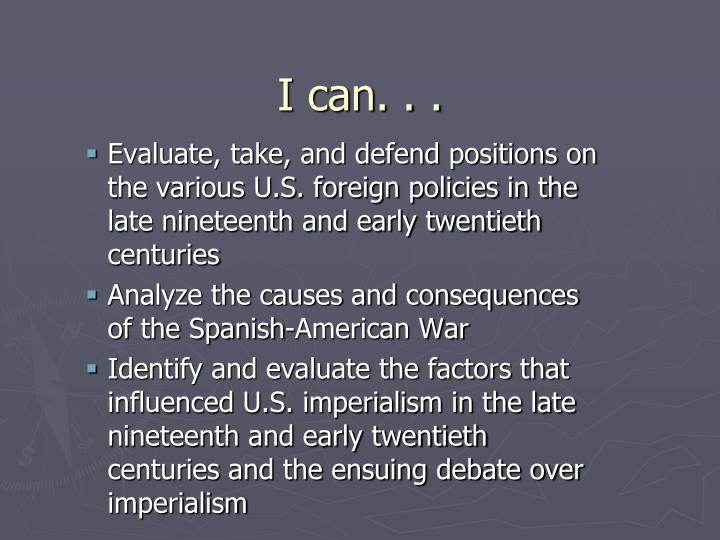 I can. . .