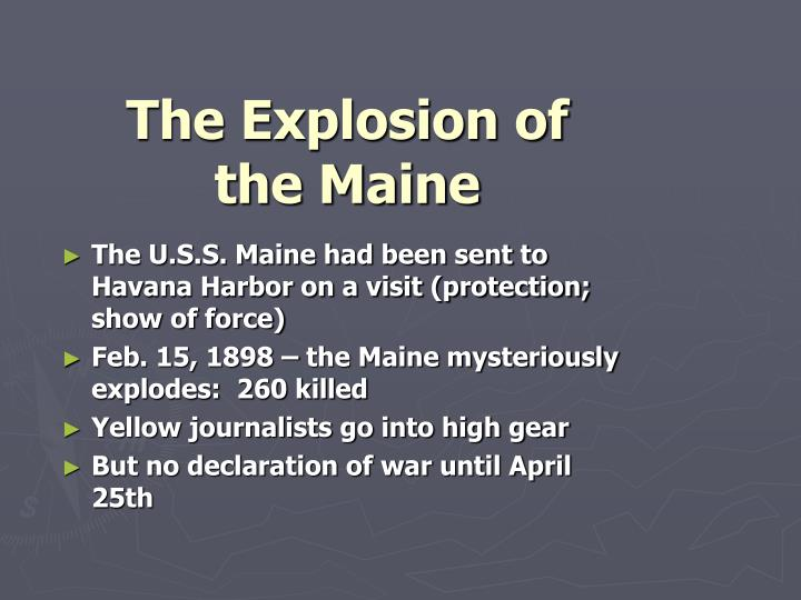The Explosion of the Maine