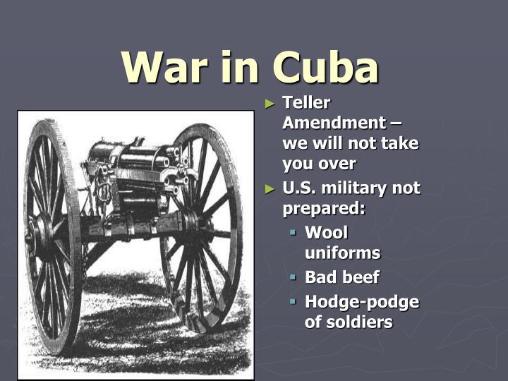 War in Cuba