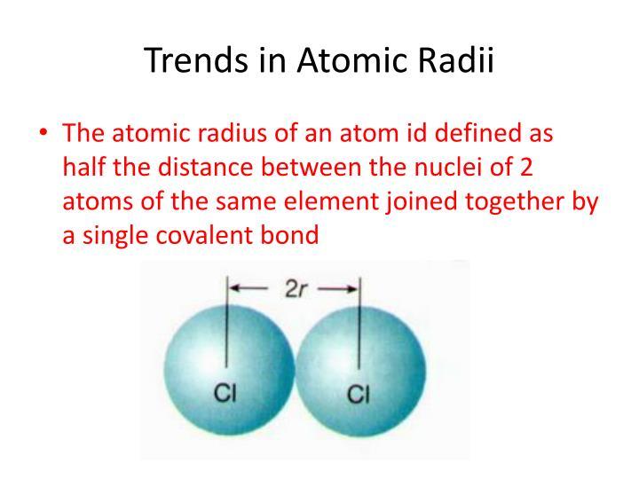 Trends in Atomic Radii