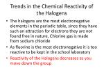 trends in the chemical reactivity of the halogens