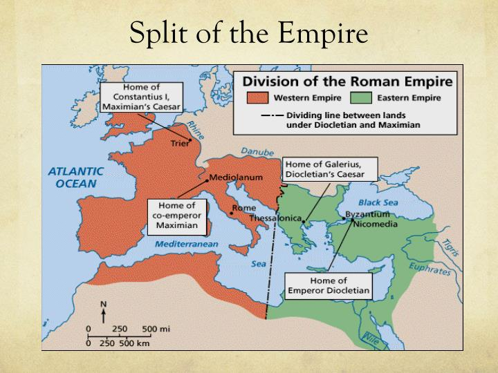 Split of the Empire