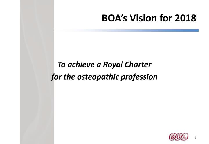BOA's Vision for 2018