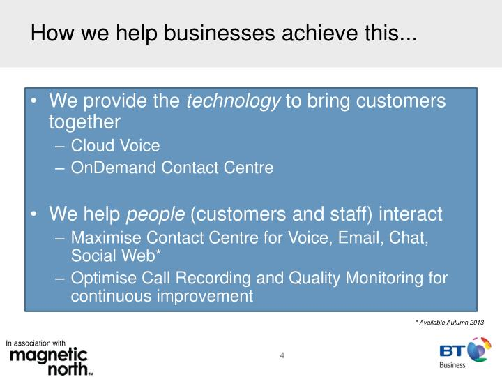 How we help businesses achieve this...