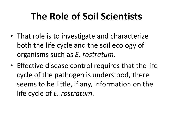 The Role of Soil Scientists