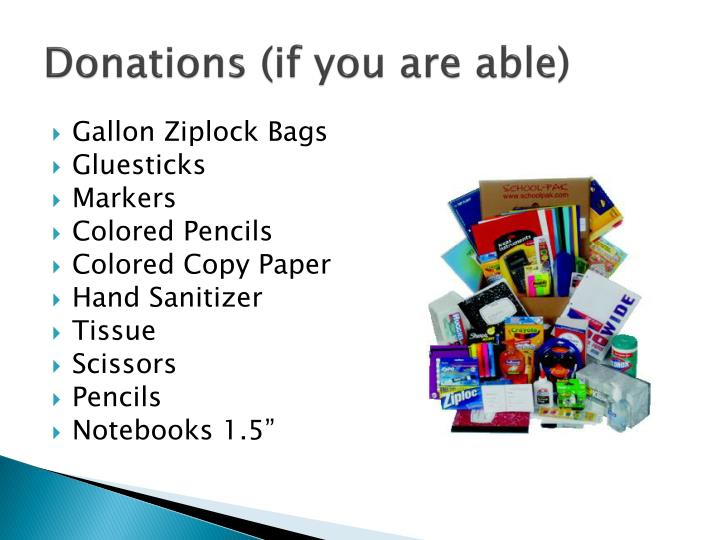 Donations (if you are able)