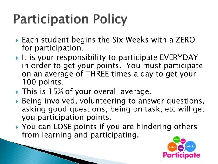 Participation Policy