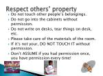 respect others property