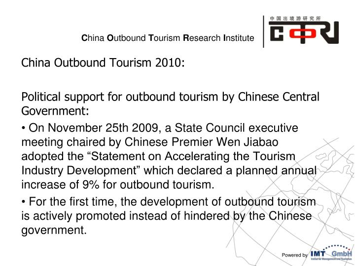 China Outbound Tourism 2010: