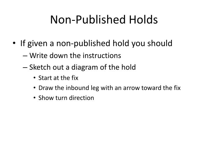 Non-Published Holds