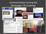communication during the sheboygan tb outbreak