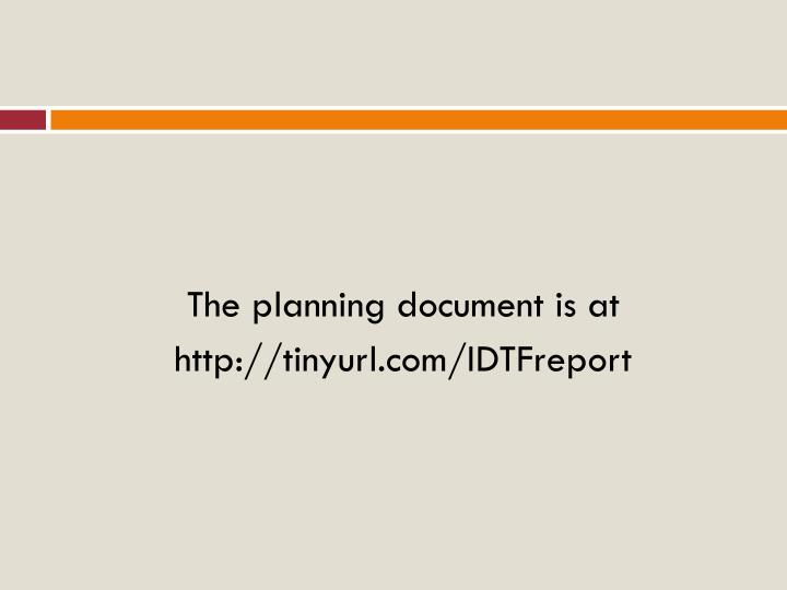 The planning document is at