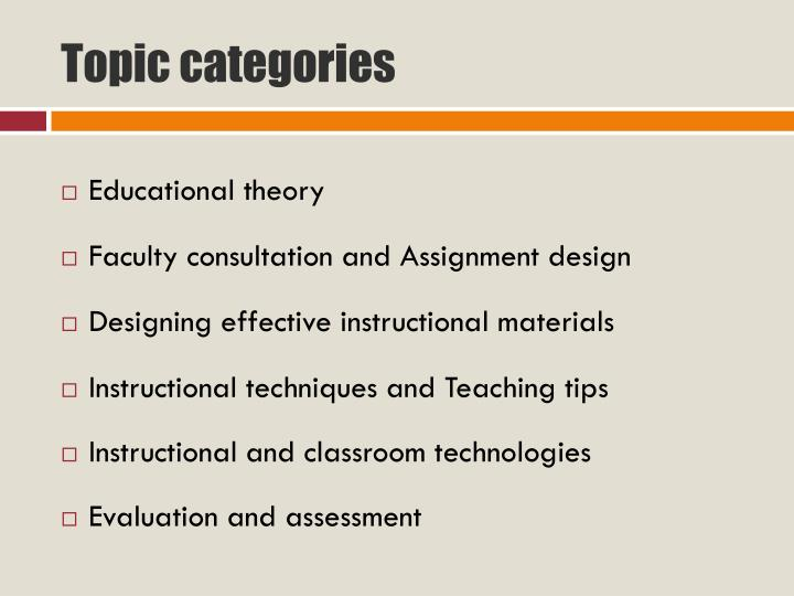 Topic categories
