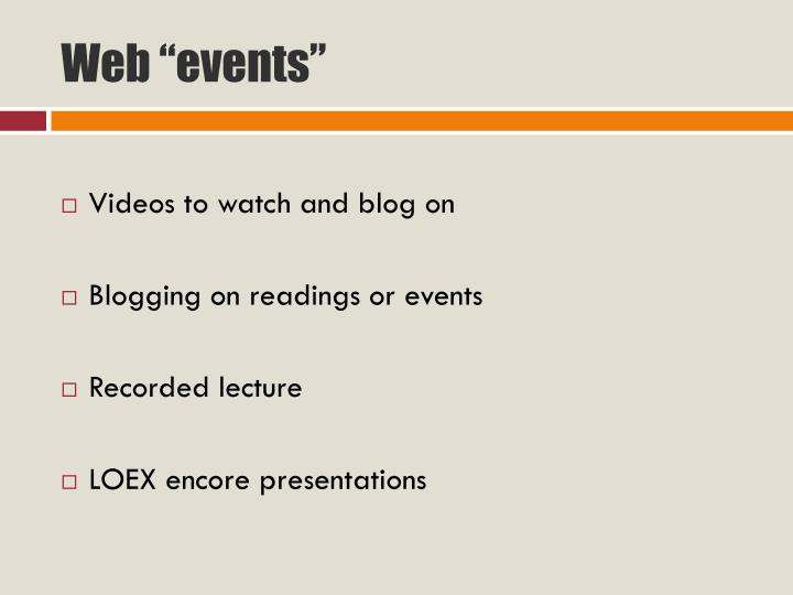 "Web ""events"""
