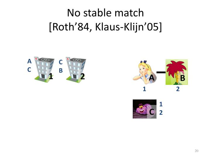 No stable match