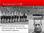 the olympics 1938