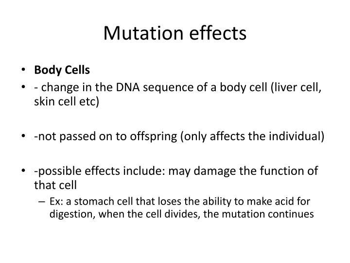 Mutation effects