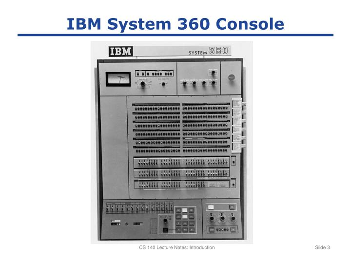 IBM System 360 Console