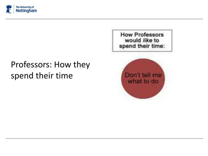Professors: How they