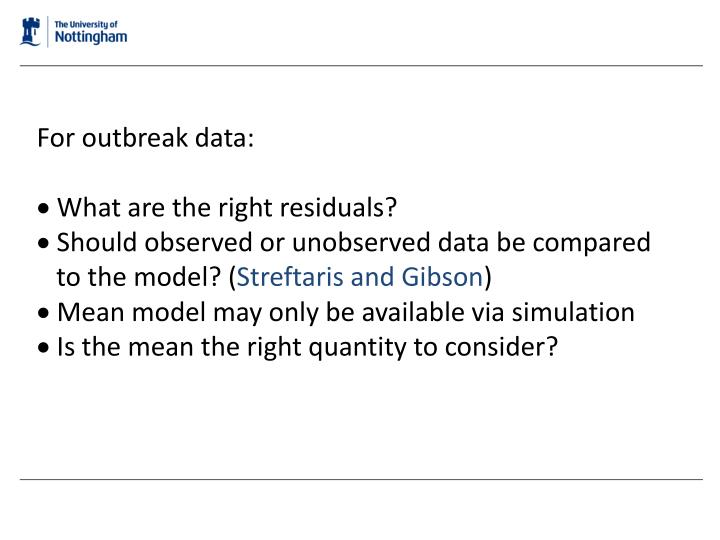 For outbreak data: