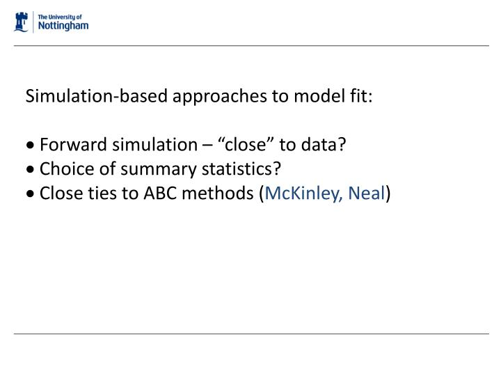 Simulation-based approaches to model fit: