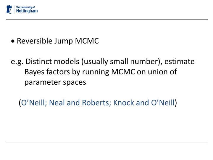  Reversible Jump MCMC