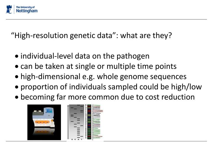 """""""High-resolution genetic data"""": what are they?"""