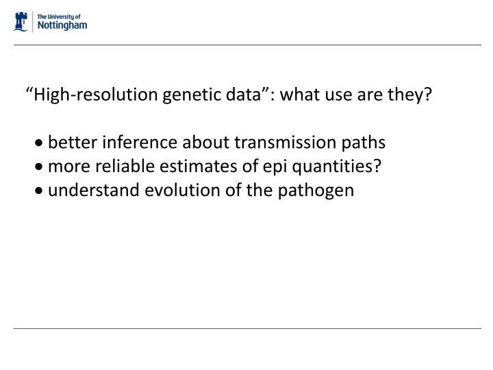 """""""High-resolution genetic data"""": what use are they?"""
