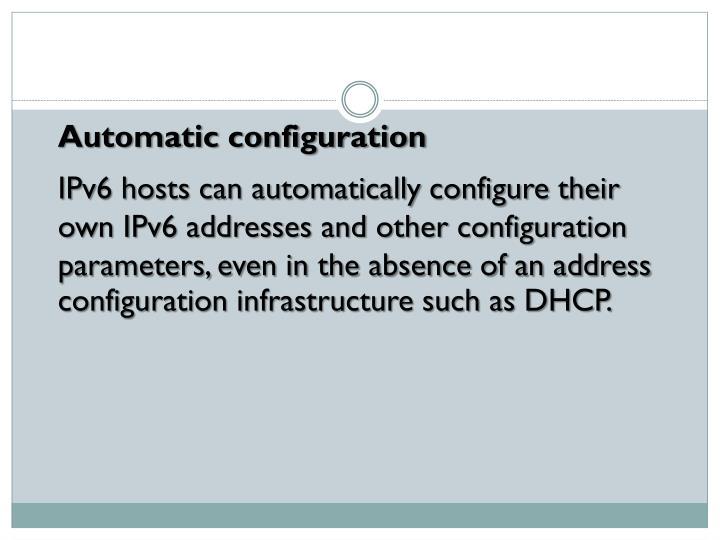 Automatic configuration