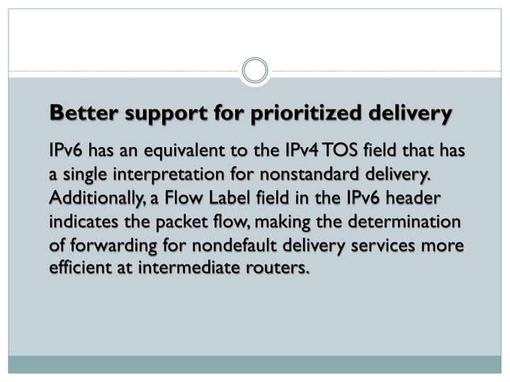 Better support for prioritized delivery