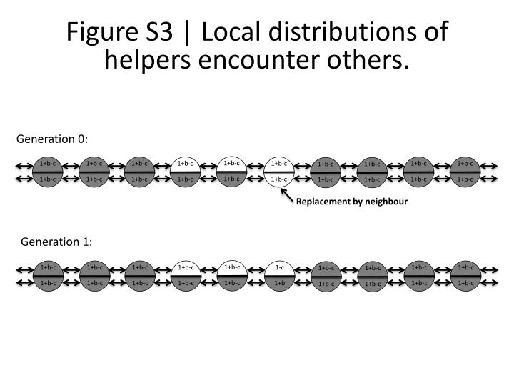 Figure S3   Local distributions of helpers encounter others.