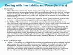 dealing with inevitability and power lessness