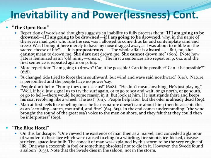 Inevitability and Power(