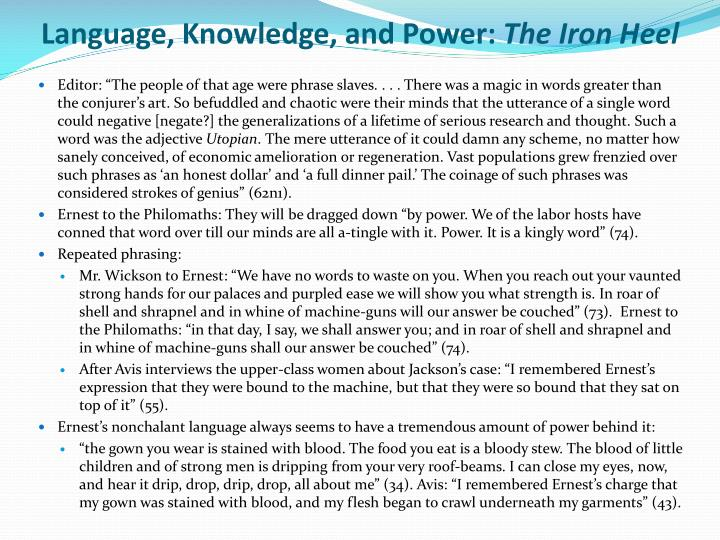 Language, Knowledge, and Power: