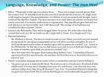 language knowledge and power the iron heel