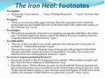the iron heel footnotes