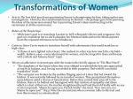 transformations of women
